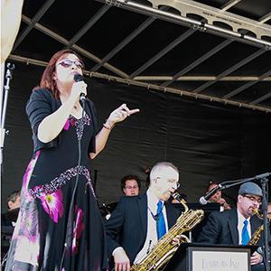 Denver Big Band Singer Deborah Stafford at the Keystone Wine & Jazz Festival